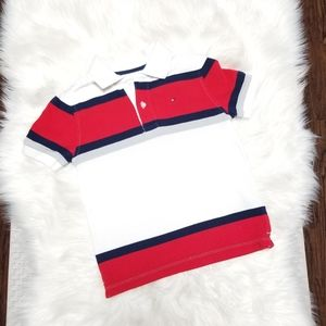 Tommy Hilfiger Short Sleeve Boy Polo White Small
